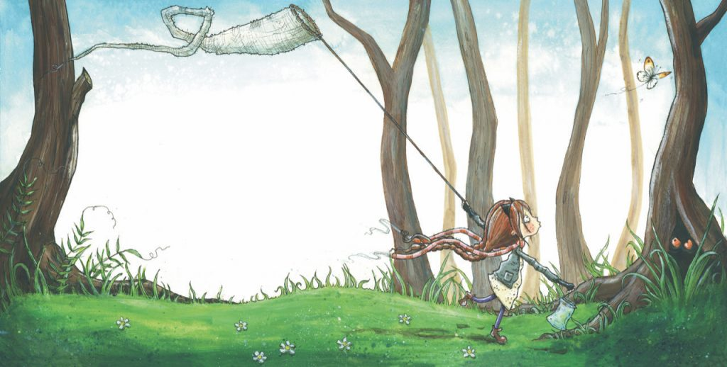 Nova in the Woods Chasing Butterflies illustrated by Zoe Sadler