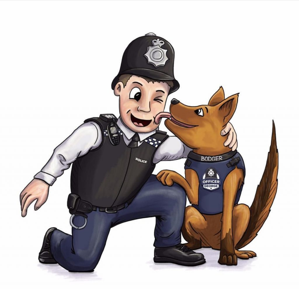 Officer George and new character police dog Bodge
