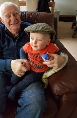 Neil with his other Grandad