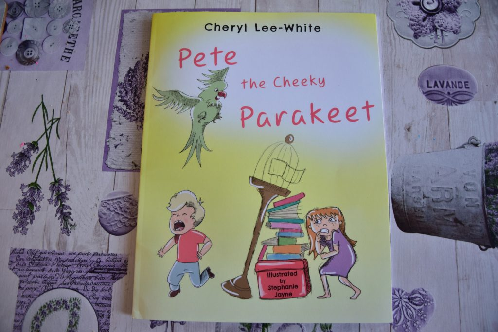 Children's book Pete the Cheeky Parakeet by Cheryl Lee-White