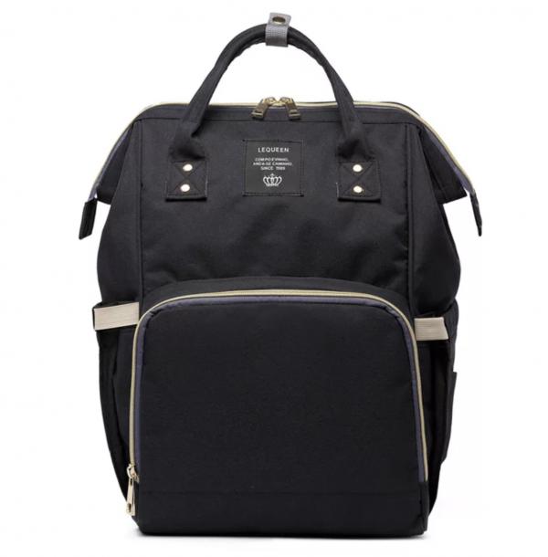 Nappy bag in black