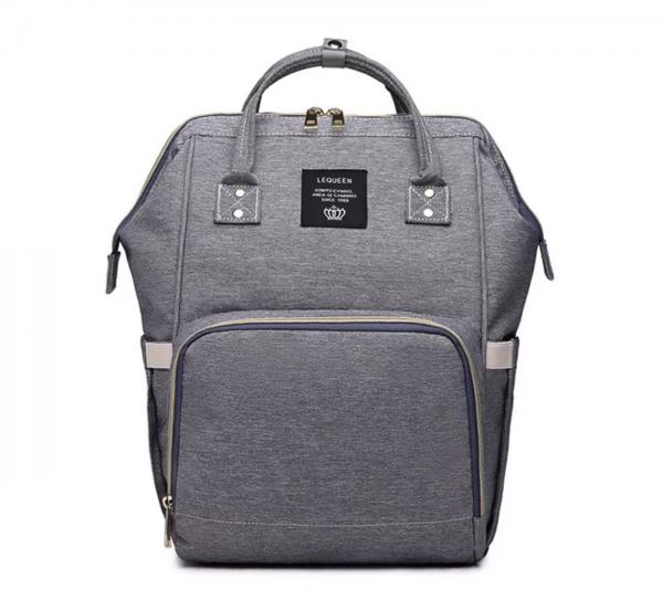 Nappy bag in grey