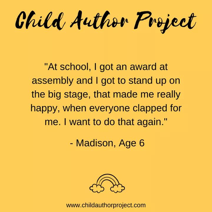 The Child Author project - child author Madison